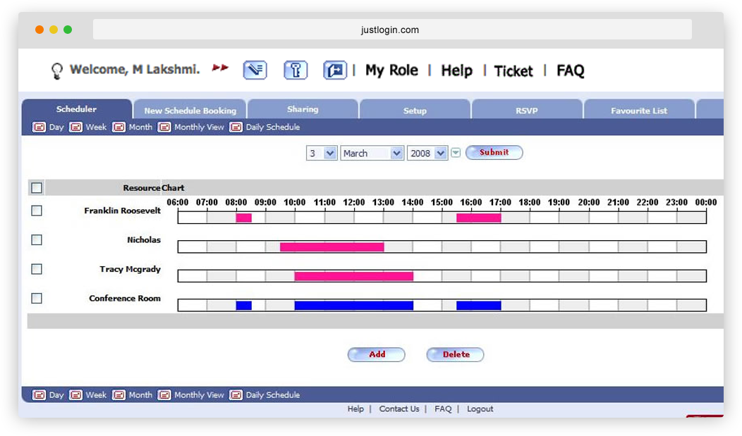Office resource booking system, Room Booking Software